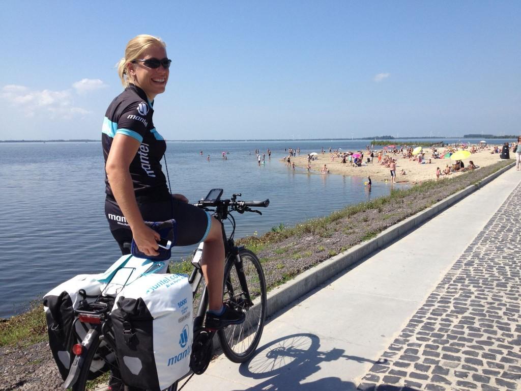 Mirre op de fiets Harderwijk