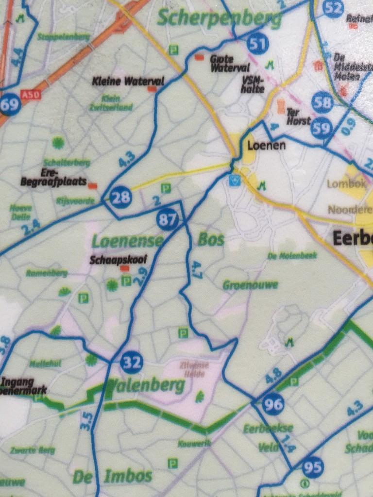 Fietsknooppunten netwerk Nederland 101