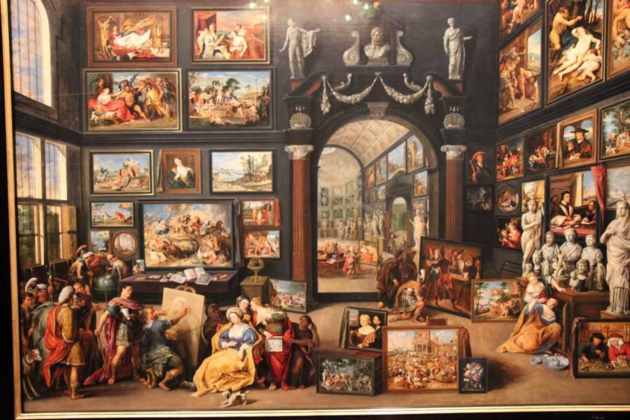 Schilderij met schilderijen