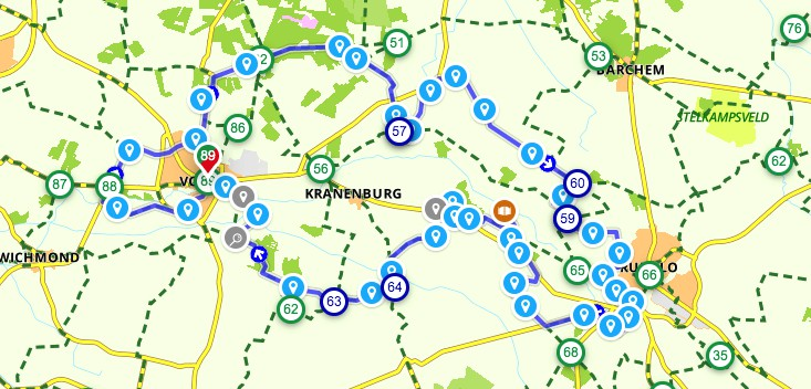 Achtkastelenroute Vorden fietsen. 8 Kastelenroute fietsroute.