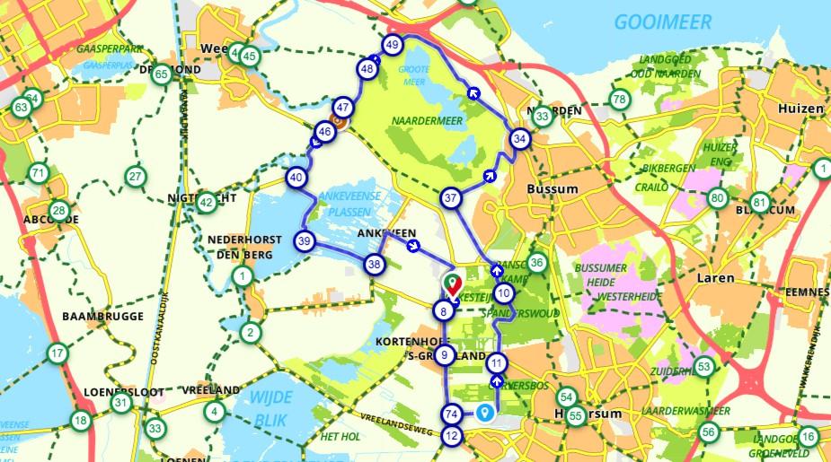 Fietsroute-Rondje-Naardermeer