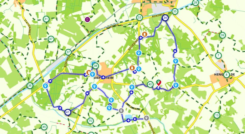 6 kastelenroute kaart, Diepenheim
