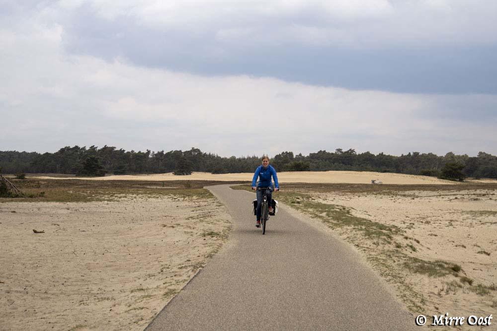 Fietsen op de Hoge Veluwe, het Otterlose zand 112