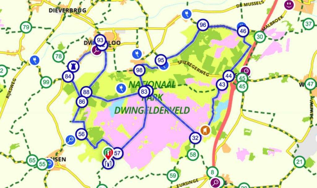 Fietsroute-Dwingelderveld