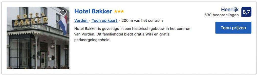 Hotel-Bakker-Vorden-booking