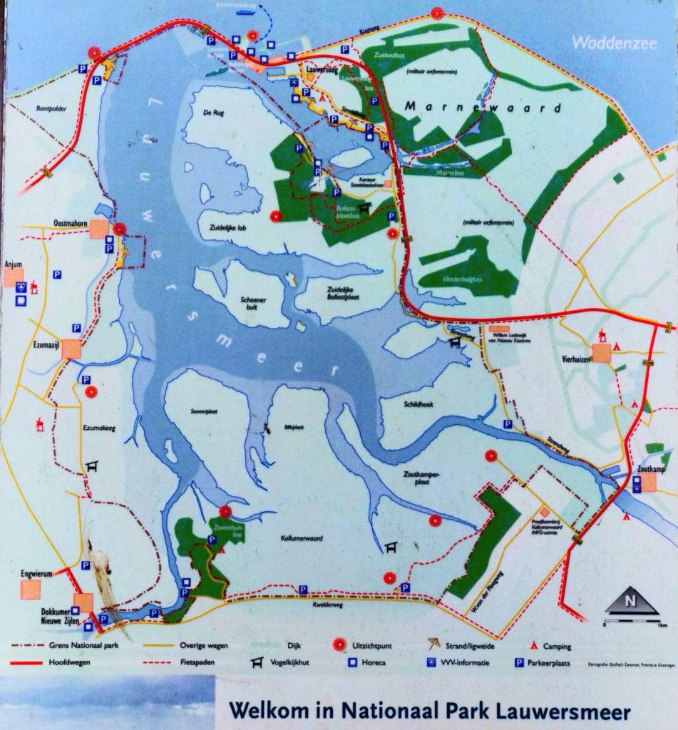 Lauwersmeer-plattegrond