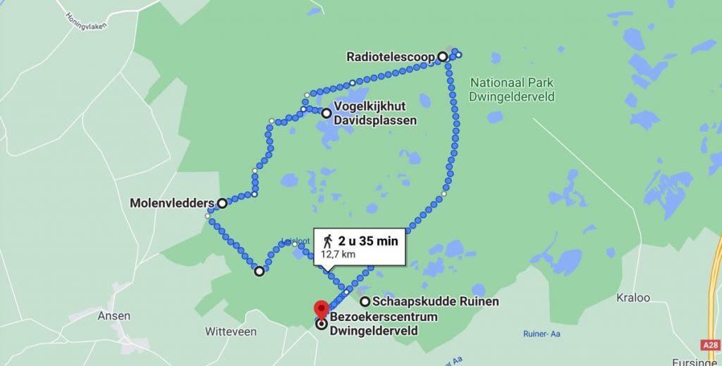 Wandelroute-Dwingelderveld