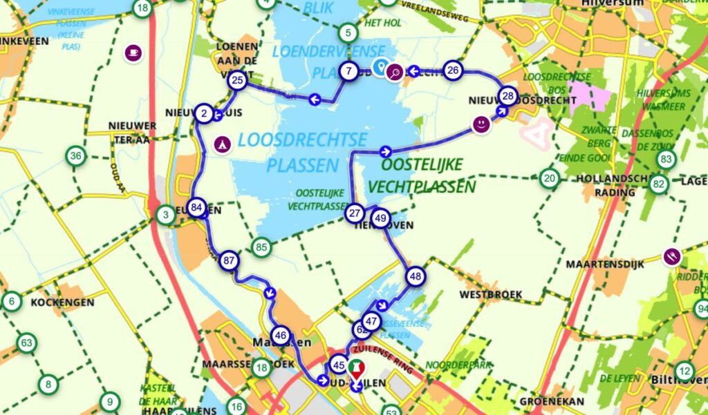 Fietsroute-Loosdrechtse-Plassen