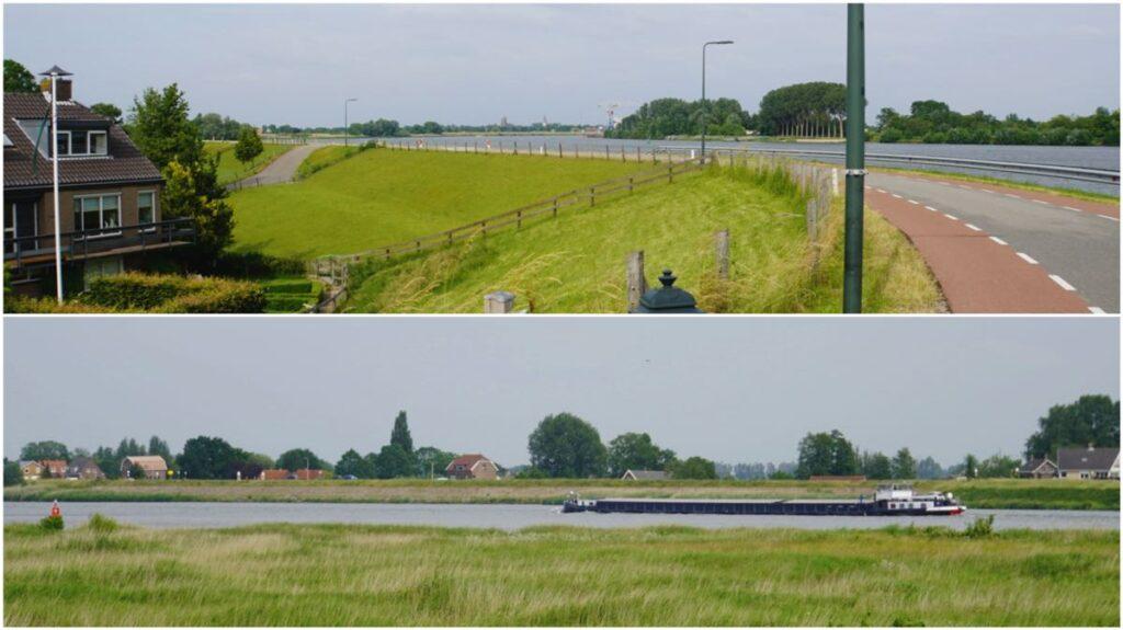 Fietsroute-Schoonhoven-Fietsen-op-de-dijk-langs-de-Lek